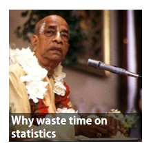 Why waste time on statistics?